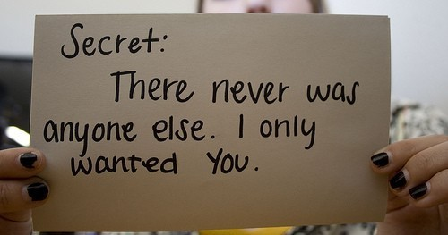 i only, love, never, quote, secret, text, there, typography, wanted, was, you