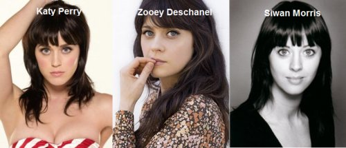 katy perry, siwan morris, zooey deschanel