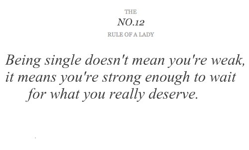 rule of a lady, rules of ladies, single