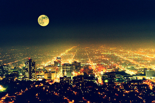 2011, beautiful, city, happy new year, lights, moon, nye, photography, pretty, sky, skyline
