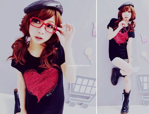 asian, beautiful, beauty, clothes, cute, delicate, girl, glasses, hair, korean, korean girl, pretty, style, ulzzang