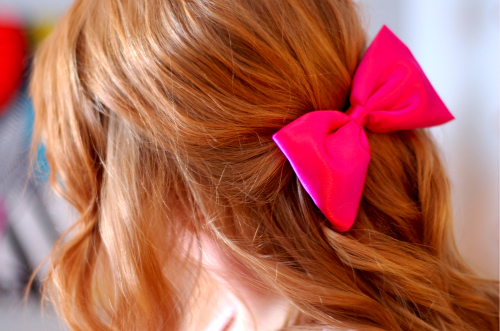 bow, curles, girl, hair, loop