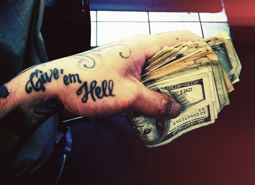 dolar, hand, hell, money, my chemical romance, tattoo