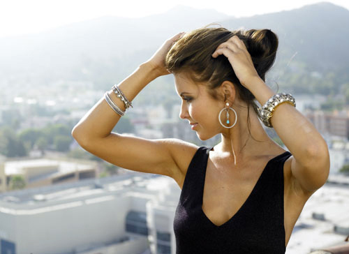 audrina patridge, blue, bracelet, chocolate, cute