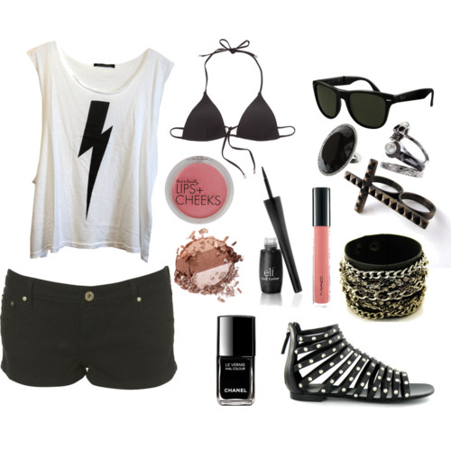 bathing suit, black, clothes, gladiators, lightening