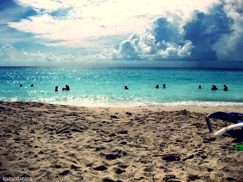 beach, cancun, ocean, sand, sky