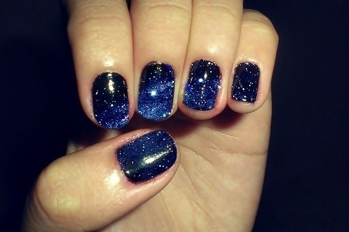 blue, fashion, nail, nailpolish, nails