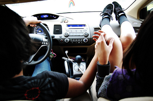 boy, car, couple, cute, girl