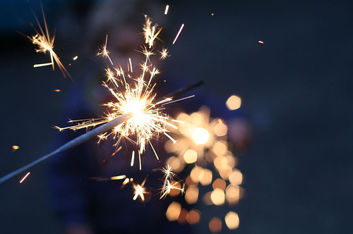 cute, firework, light, pretty, sparks