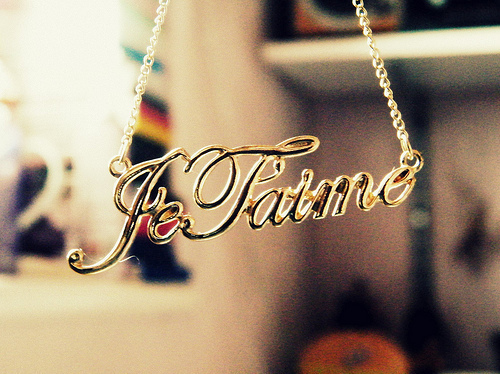 fashion, french, gold, je taime, jewelry - image #141865 ...