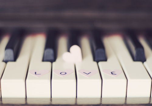 heart, love, music, piano