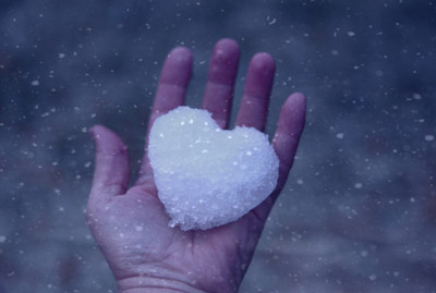 heart, love, photography, snow, snow heart, winter