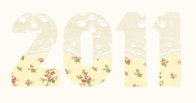 2011, art, floral, happy new year, lace, new year, pretty