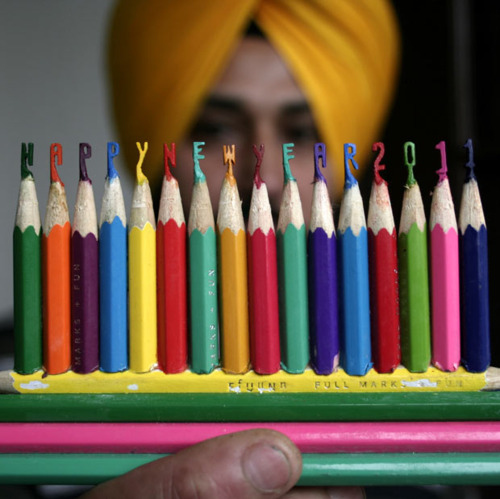 2011, colored, colorful, cute, happy new year, indian, new year, pencils, rainbow