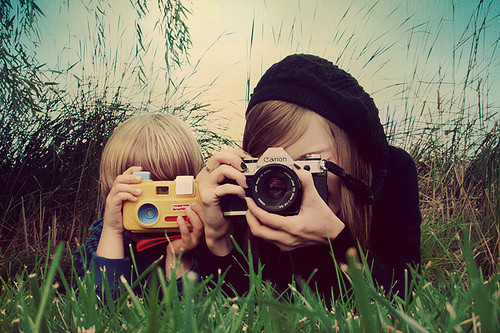 adult, beautiful, camera, cameras, child, grass, love, memories, nice, pretty