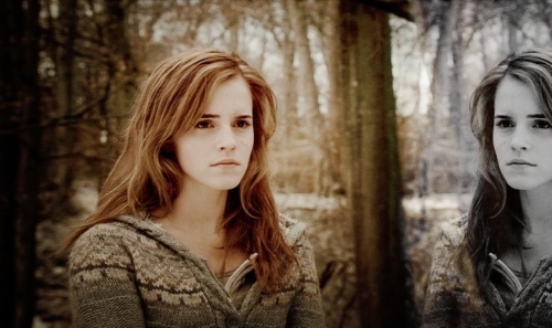 beautiful, beauty, deathly, deathly hallows, emma, emma watson, granger, hallows, harry, hermione, mirror, potter, pretty, scene, watson