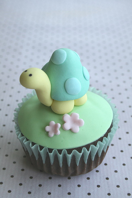 birthday, cupcake, cute, kawaii, turtle