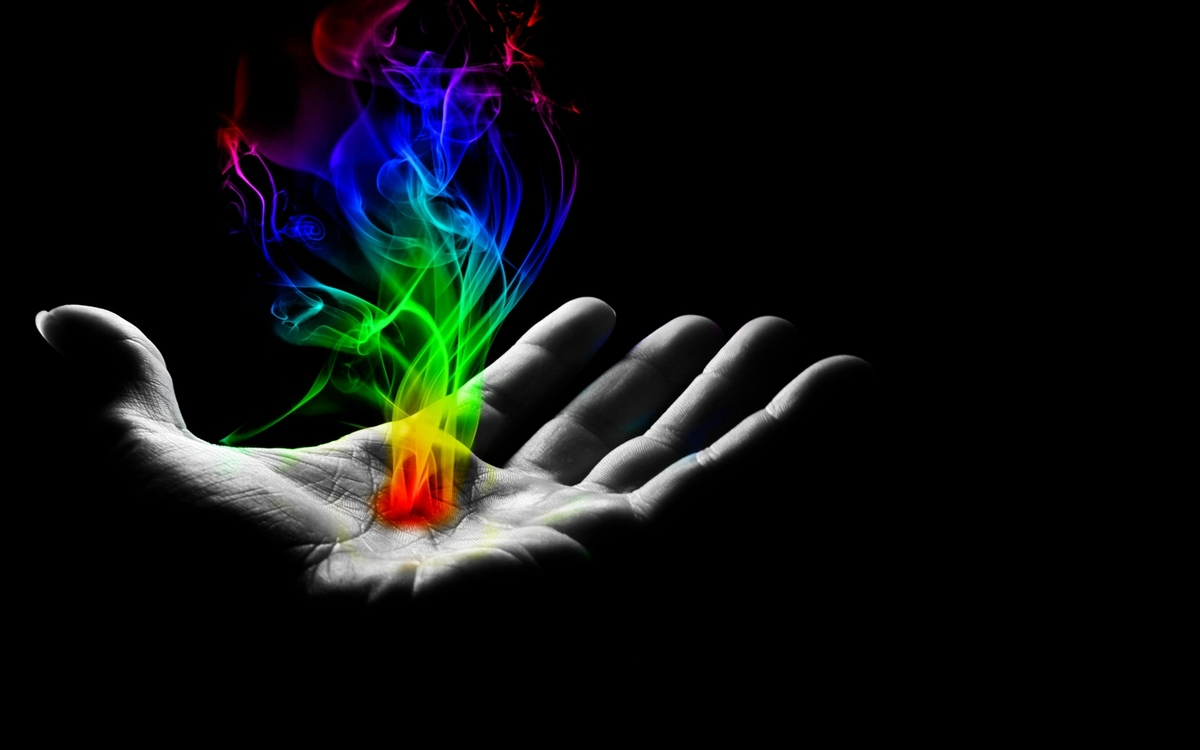black and white, burst of color, color, flame, hand