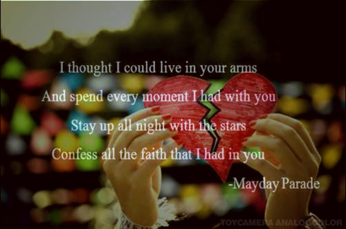broken heart, love, lyrics, mayday parade, music