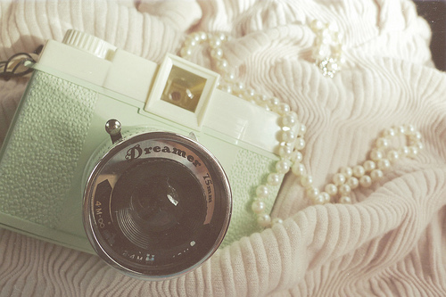 camera, dreamer, pearls, white