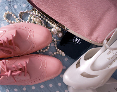 chanel, fashion, melissa, oxford, pink