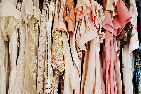 clothes, clothing, clothing rack, fashion, peach, pink, store