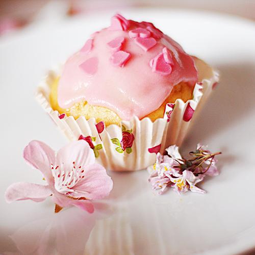 colorful, cupcake, cute, deviantart, food, hearts, kawaii, pink