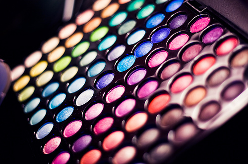 colors, colourful, eyeshadow, eyeshadows, fashion, make-up, makeup, palette, rainbow