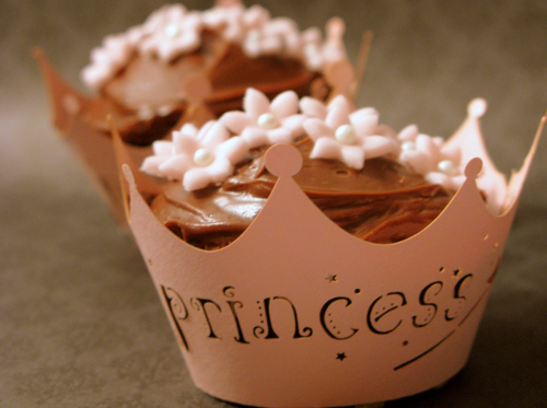 crown, cupcake, dessert, food, pink, princess