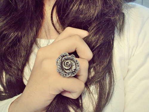 fashion, flower, hair, photography, pink, pretty, ring