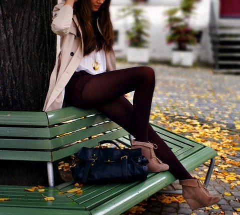 bag, fashion, girl, park, photography, skinny, style, thights
