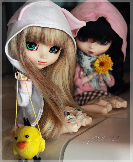 barbie, blythe, duck, fashion, flower