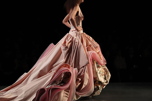 ball gown, beautiful, catwalk, dress, dress!, fashion, girl, gown, model, pink, pretty, vintage