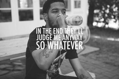black and white, cudi, kid cudi, lyrics, quote