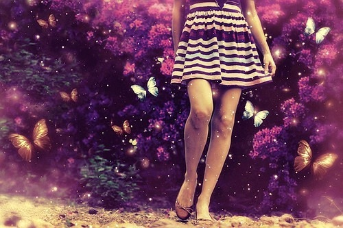 butterfly, cute, dress, girl, love