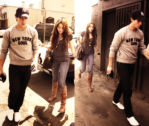 couple, miley cyrus, nick jonas, niley