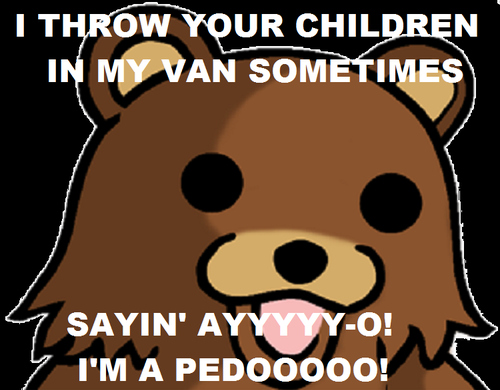 cute, funny, lol, pedobear