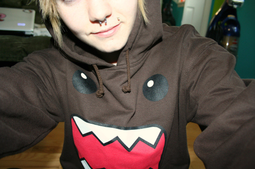 domo, domo-kun, piercing, sweater