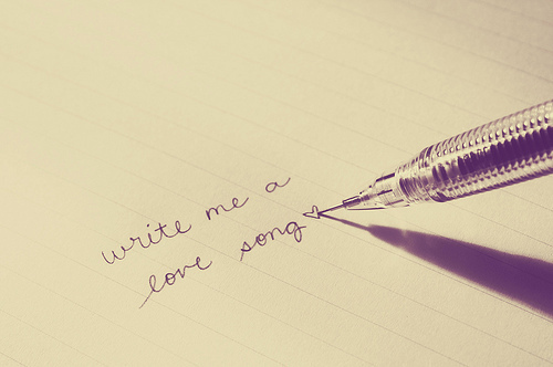 handwriting, love, love song, pen, romance