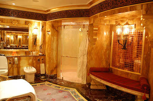 bathroom, fancy, future home, gold - image #143881 on ...