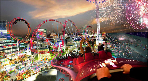 amazing, amusement park, awsome, fireworks, lights, marj world, roller coaster