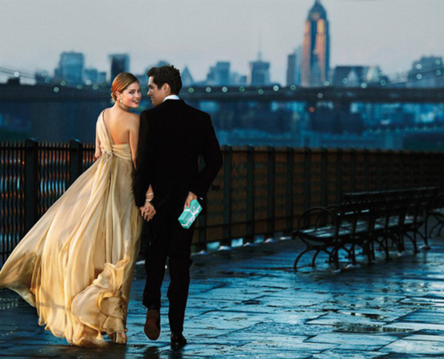 blue, box, brooklyn, city, couple, doutzen, doutzen kroes, new york, skyline, tiffany