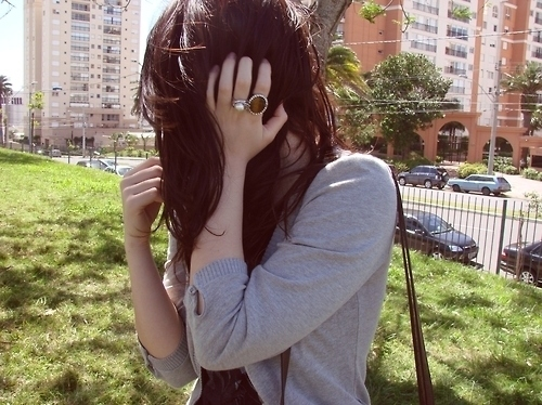 brunette, cardigan, fashion, grey, pretty