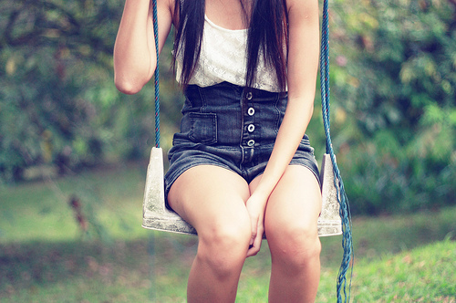 buttons, denim, fashion, girl, lace, shorts, skinny, style, tank