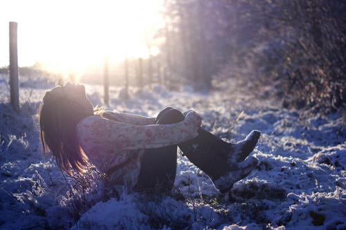 cold, girl, hair, happiness, happy, laugh, nature, photography, sky, snow, sun, tree, trees, white, winter