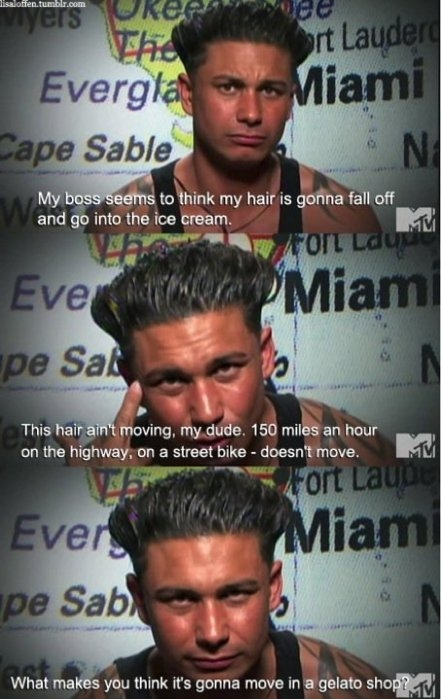 funny, jersey shore, pauly d, quote, show, telelvision