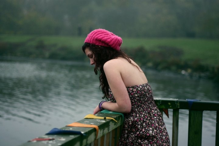 annalise, autumn, colour, dress, hat, hunt, photography, pink, pretty, teenager, water, wonder, ylana