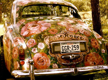 antique, beautiful, bohemian, car, cozy