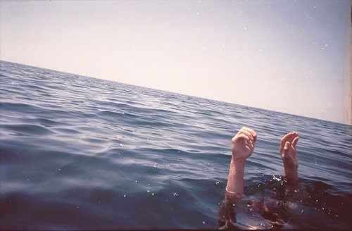 arms, hands, ocean and sea