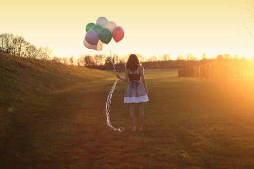 balloons, colors, dress, eiggam, field